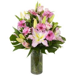 vazo içerisinde karisik mevsim çiçekleri  Diyarbakır İnternetten çiçek siparişi