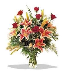 Diyarbakır çiçek siparişi sitesi  Pembe Lilyum ve Gül