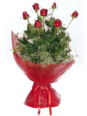 Diyarbakır çiçek siparişi sitesi  7 adet gülden buket görsel sik sadelik