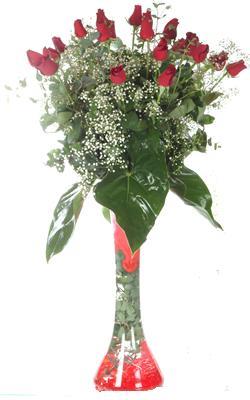 Diyarbakır çiçek satışı  19 ADET GÜL VE FIL CAM AYAGI