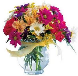 Diyarbakır online çiçekçi , çiçek siparişi  cam yada mika içerisinde karisik mevsim çiçekleri