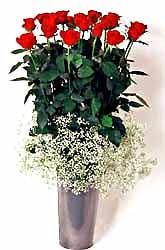 Diyarbakır çiçek gönderme  9 adet kirmizi gül cam yada mika vazoda