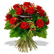 9 adet kirmizi gül ve kir çiçekleri  Diyarbakır online çiçekçi , çiçek siparişi
