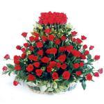 Diyarbakır çiçekçiler  41 adet kirmizi gülden sepet tanzimi