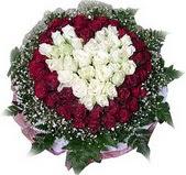 Diyarbakır internetten çiçek satışı  27 adet kirmizi ve beyaz gül sepet içinde