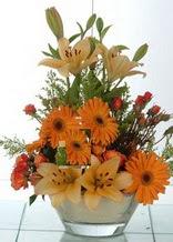 Diyarbakır çiçek siparişi sitesi  cam yada mika vazo içinde karisik mevsim çiçekleri