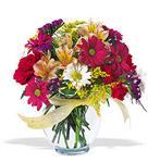 Diyarbakır çiçek servisi , çiçekçi adresleri  cam yada mika vazo içerisinde karisik kir çiçekleri
