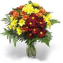 Diyarbakır yurtiçi ve yurtdışı çiçek siparişi  Karisik çiçeklerden mevsim vazosu