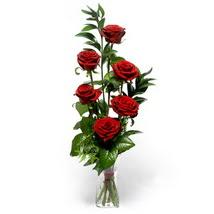 Diyarbakır yurtiçi ve yurtdışı çiçek siparişi  cam yada mika vazo içerisinde 6 adet kirmizi gül