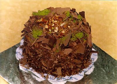 Çikolatali 4 ila 6 kisilik yas pasta  Diyarbakır uluslararası çiçek gönderme