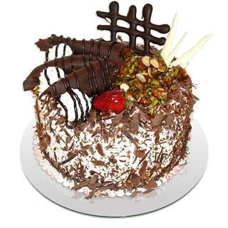 4 ile 6 kisilik çikolatali yas pasta  Diyarbakır çiçekçiler