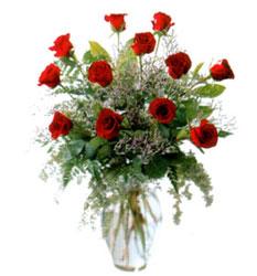 Vazo içerisinde 11 kirmizi gül  Diyarbakır çiçek gönderme sitemiz güvenlidir