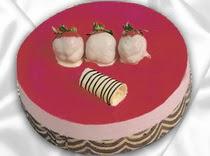 pasta siparisi 4 ile 6 kisilik yas pasta çilekli yaspasta  Diyarbakır çiçek siparişi sitesi