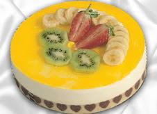 pasta gönderme 4 ile 6 kisilik yas pasta muzlu yaspasta  Diyarbakır internetten çiçek satışı