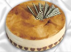 taze pasta 4 ile 6 kisilik yas pasta karamelli yaspasta  Diyarbakır çiçek yolla , çiçek gönder , çiçekçi