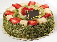 pasta gönder  4 ile 6 kisilik karisik meyvali yas pasta  Diyarbakır İnternetten çiçek siparişi