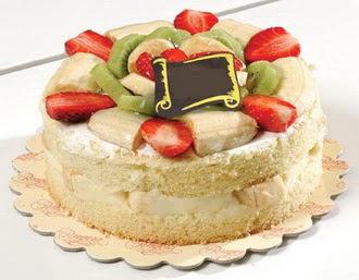 pasta siparisi 4 ile 6 kisilik karisik meyvali yas pasta  Diyarbakır çiçek siparişi sitesi