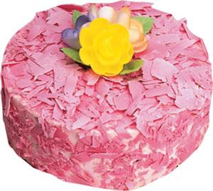 pasta siparisi 4 ile 6 kisilik framboazli yas pasta  Diyarbakır 14 şubat sevgililer günü çiçek