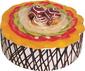 pasta siparisi 4 ile 6 kisilik meyvali yas pasta  Diyarbakır çiçek online çiçek siparişi