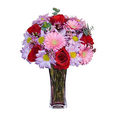 Görsel hediye karisik cam mevsim demeti  Diyarbakır güvenli kaliteli hızlı çiçek