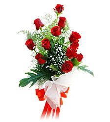 11 adet kirmizi güllerden görsel sölen buket  Diyarbakır çiçek gönderme sitemiz güvenlidir