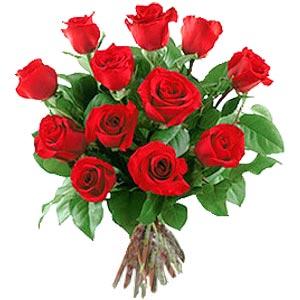 11 adet bakara kirmizi gül buketi  Diyarbakır internetten çiçek siparişi