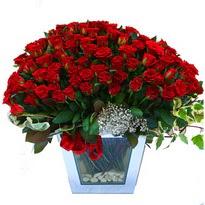 Diyarbakır çiçek yolla , çiçek gönder , çiçekçi    101 adet kirmizi gül aranjmani
