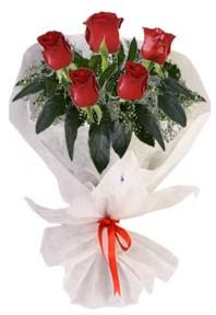 5 adet kirmizi gül buketi  Diyarbakır çiçek yolla , çiçek gönder , çiçekçi