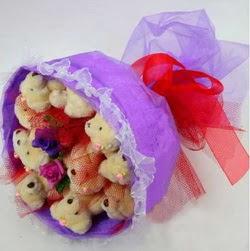 11 adet ayiciktan buket  Diyarbakır İnternetten çiçek siparişi