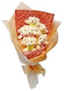 12 adet ayiciktan buket  Diyarbakır yurtiçi ve yurtdışı çiçek siparişi
