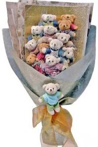 12 adet ayiciktan buket tanzimi  Diyarbakır çiçek gönderme