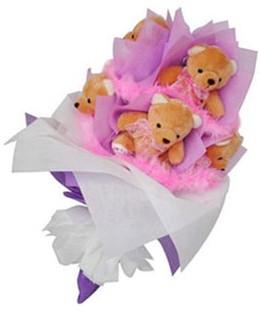 9 adet ayiciktan buket  Diyarbakır hediye çiçek yolla