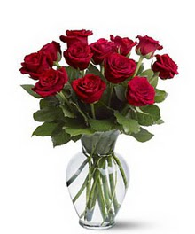 Diyarbakır uluslararası çiçek gönderme  cam yada mika vazoda 10 kirmizi gül