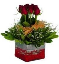 Diyarbakır anneler günü çiçek yolla  7 adet mika yada cam vazoda gül tanzimi