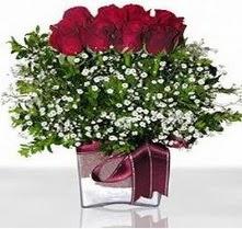Diyarbakır online çiçekçi , çiçek siparişi  mika yada cam vazo içerisinde 7 adet gül