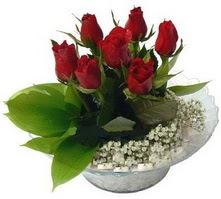 Diyarbakır online çiçekçi , çiçek siparişi  cam yada mika içerisinde 5 adet kirmizi gül