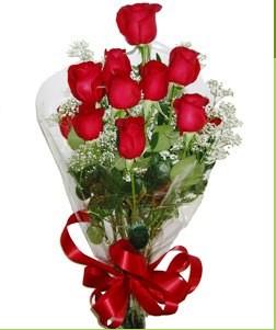 Diyarbakır çiçek satışı  10 adet kırmızı gülden görsel buket