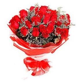 Diyarbakır internetten çiçek satışı  12 adet kırmızı güllerden görsel buket