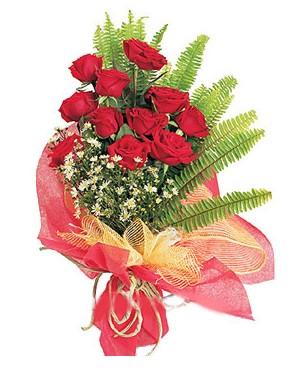 Diyarbakır cicekciler , cicek siparisi  11 adet kırmızı güllerden buket modeli