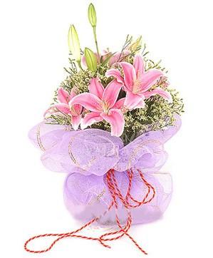 3 dal kazablanka görsel buketi  Diyarbakır online çiçekçi , çiçek siparişi
