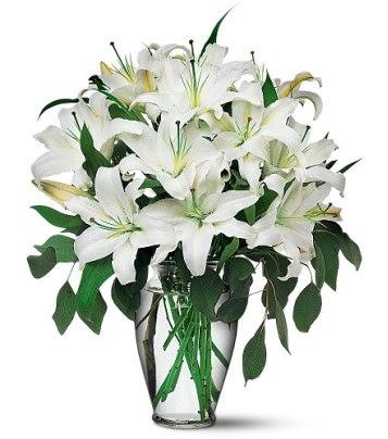 Diyarbakır online çiçekçi , çiçek siparişi  4 dal kazablanka ile görsel vazo tanzimi