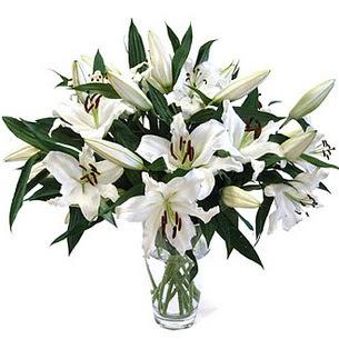 Diyarbakır hediye sevgilime hediye çiçek  3 dal görsel casablanca vazo tanzimi