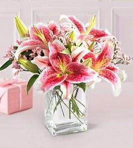 2 dal kazablanka görsel vazosu  Diyarbakır yurtiçi ve yurtdışı çiçek siparişi