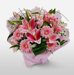 1 dal kazablanka ve kır çiçek görsel buketi  Diyarbakır online çiçekçi , çiçek siparişi