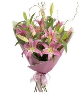Diyarbakır cicekciler , cicek siparisi  3 dal cazablanca buket çiçeği