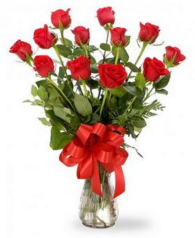Diyarbakır çiçek servisi , çiçekçi adresleri  12 adet kırmızı güllerden vazo tanzimi