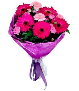 Diyarbakır yurtiçi ve yurtdışı çiçek siparişi  karışık gerbera çiçeği buketi