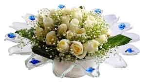 Diyarbakır çiçekçi mağazası  11 adet Beyaz güller özel cam tanzim