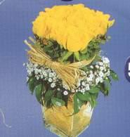 Diyarbakır ucuz çiçek gönder  Cam vazoda 9 Sari gül