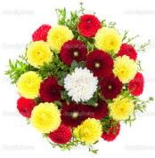 Diyarbakır güvenli kaliteli hızlı çiçek  13 adet mevsim çiçeğinden görsel buket